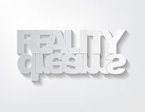 Reality/dreams concept Stock Photography