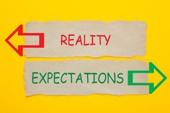 Free Reality Expectations Concept Royalty Free Stock Photo - 144668895
