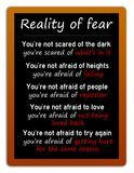 Reality of fear. And analyzing what`s lying underneath vector illustration