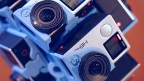 Reality 360heros. Cameras mounted GoPro Hero 4 stock video