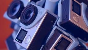 Reality 360heros. Cameras mounted GoPro Hero 4 stock footage