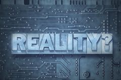 Reality question gr Stock Image