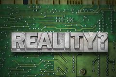 Reality question - pc board stock photography