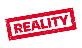 Reality rubber stamp Royalty Free Stock Photography