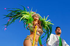 Reality Show stars in the  Brazilian Carnaval Stock Photo