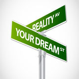 Reality sign Stock Image