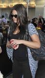 Reality star Khloe Kardashian is seen at LAX Royalty Free Stock Photography