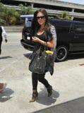 Reality star Khloe Kardashian is seen at LAX Royalty Free Stock Photos