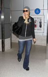Reality star Paris Hilton at LAX . LOS ANGELES - FEBRUARY 6: Reality star Paris Hilton at LAX .February 6th 2010 in Los Angeles, California Royalty Free Stock Photos