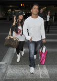 Reality star Snooki from Jersey Shore at LAX Royalty Free Stock Photos