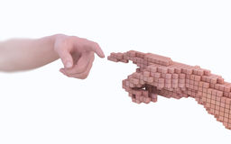 Reality vs simulation royalty free illustration
