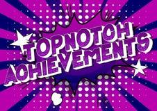 Realizações Topnotch - palavras do estilo da banda desenhada ilustração stock