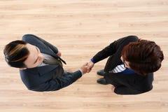 Realización acertada de negociaciones foto de archivo libre de regalías