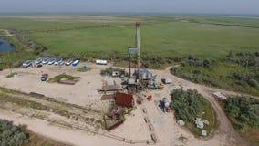 Realización de la reparación de un pozo de petróleo metrajes