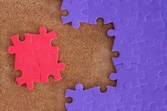Realización del rompecabezas que falta Imagen de archivo