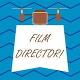 Realizador de cinema da exibição do sinal do texto Foto conceptual uma demonstração que seja responsável de fazer e de dirigir um ilustração do vetor