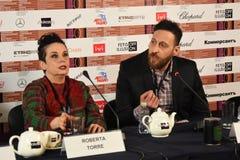 Realizador de cinema Roberta Torre, Itália, no 40th festival de cinema internacional de Moscou imagens de stock