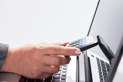 Realization of payment through a TAN Generator Stock Image