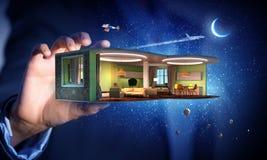 Realize your interior dream . Mixed media Royalty Free Stock Photos