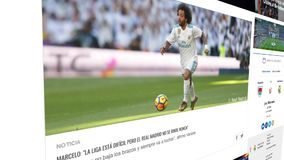 Realmadrid.com, Madrid football club web page royalty free illustration
