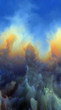 Realms of Alien Atmosphere. Forces In Nature 4K format. Backdrop composed of surreal colors and digital painting and suitable for use in the projects on fiction Royalty Free Stock Image
