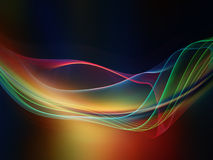 Realms of Fractal Waves. Fractal Wave series. Backdrop composed of fractal sine waves and color and suitable for use in the projects on design, mathematics and stock photography
