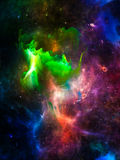 Realms of Interstellar Clouds Royalty Free Stock Photo