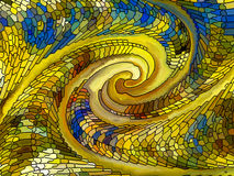 Realms of Stained Glass Stock Photo