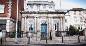 RealNation办公室的建筑细节在都伯林,爱尔兰 免版税库存图片