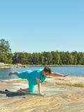 Realny sprawności fizycznej szkolenie, dojrzała kobieta Obraz Royalty Free
