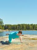 Realny sprawności fizycznej szkolenie, dojrzała kobieta Zdjęcia Royalty Free