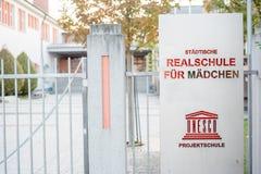 Realschule fà ¼ r Mädchen罗森海姆 库存照片