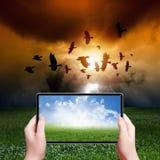 Realtà aumentata Fotografie Stock