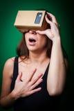 Realtà virtuale del cartone Immagini Stock