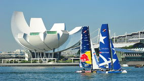 Realteam racing Red Bull Sailing Team at Extreme Sailing Series Race 2013 Stock Images