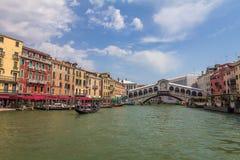 Realto Bridge - The Grand Canal in Venice Italy Stock Photos