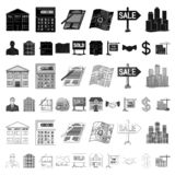 Realtor, agency cartoon icons in set collection for design. Buying and selling real estate vector symbol stock web. Realtor, agency cartoon icons in set vector illustration