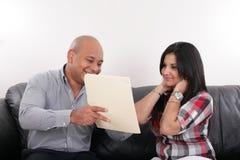 Realtor and a client. A realtor and a client Royalty Free Stock Photo