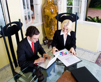 Realtor and client. Realtor meets with a client at home Stock Photo