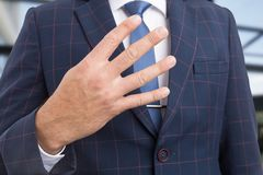 Realtor hand showing number four royalty free stock photos