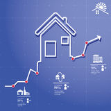 Realtor Infographic. Rent ,let, concept elements whit icons and charts Stock Image