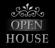 Realtor Open House Silver Sign Royalty Free Stock Photos