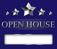 Realtor Open House Star Sign royalty free stock photos