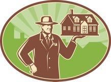 Free Realtor Real Estate Salesman House Retro Royalty Free Stock Images - 24766669