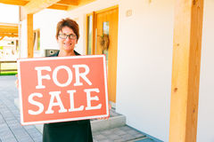 Realtor Selling A House Royalty Free Stock Images
