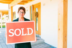 Realtor Selling A House Royalty Free Stock Image
