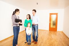 Realtor Showing Customers An Apartment stock images