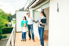 Realtor Showing Customers An Apartment royalty free stock images