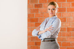 Realtor standing in empty apartment Royalty Free Stock Images
