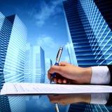 Realtor work. Realtor professional presentation business background royalty free stock images